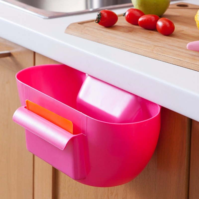 ... New Design Plastic Kitchen Mini Trash Can Over The Cabinet Waste Basket  Garbage Rubbish Bin ...