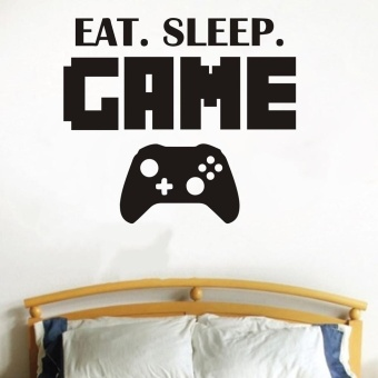 New Eat Sleep Game Version 2 Decal Sticker Wall Vinyl Art Design -intl - 4