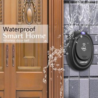 New Forecum FK-06M Smart Waterproof Plug-in Type Wireless Doorbellwith 36 Kinds Melodies (US Standard) Black - intl - 2