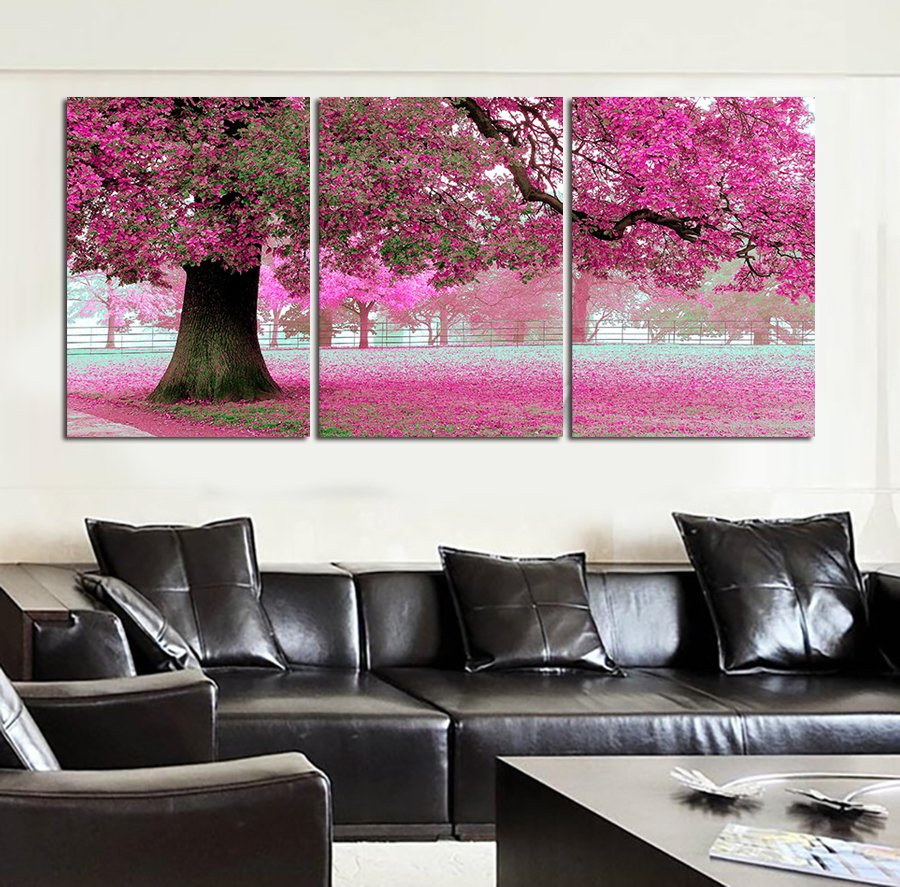 Large Modern Wall Art new oil painting on canvas pink cherry blossom large modern wall