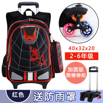 New Spider Man young student's boy's trolley school bag