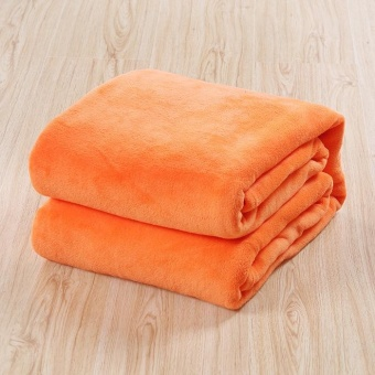 New Super Soft Warm Solid Warm Micro Plush Fleece Blanket Throw RugSofa Bedding - intl - 2