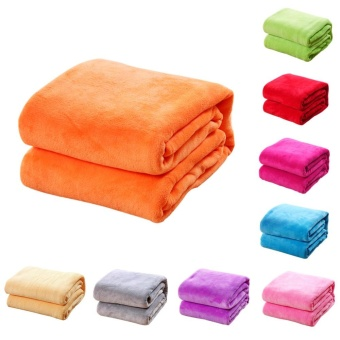 New Super Soft Warm Solid Warm Micro Plush Fleece Blanket Throw RugSofa Bedding - intl - 5