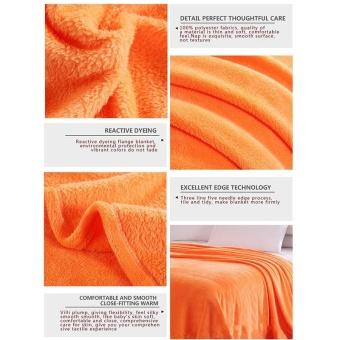 New Super Soft Warm Solid Warm Micro Plush Fleece Blanket Throw RugSofa Bedding - intl - 4