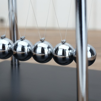 Newton's Cradle Balance Ball Classic Toy Wooden Base Newtons CradlePhysics Pendulum Science Wave Home Desk Office Decoration(Small) -intl - 5