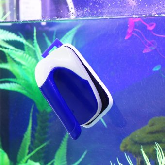 niceEshop Floating Magnetic Aquarium Cleaner Glass Scrubber AquaticAlgae Scrapers for Fish Tank with Plastic Blade Acrylic Cylinder,L - 4