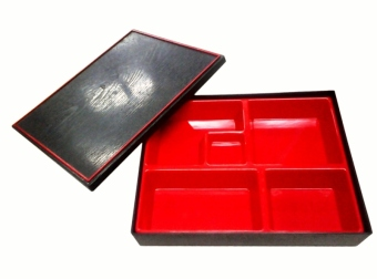 Nippon Ware 8106 Bento Box with Box Set (Red)