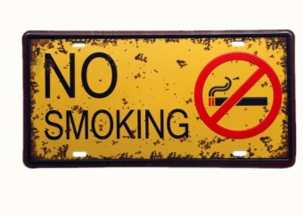 NO SMOKING CAR PLATE Vintage Tin Sign Bar Pub Home Wall Decor RetroMetal Art Poster - intl