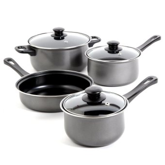 Non-Stick Coating Cookware 7-piece Set (Grey)