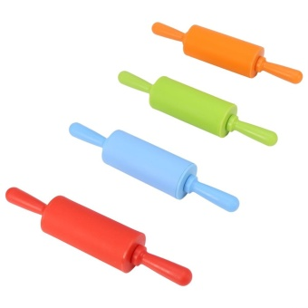 Non-stick Silicone Rolling Pin Pastry Dough Roller Baking Tool withPlastic Handle (Green) - intl - 4
