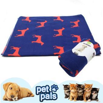 Nunbell Dogs Pattern Pet Mat Blanket (Blue/Red)