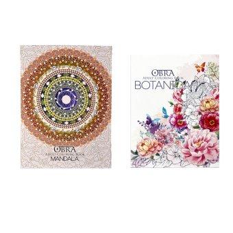 Obra Adult Coloring Book Mandala And Botanica
