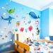 Ocean Fish Cartoon childrens room bedroom bathroom sticker wall stickers Home Décor Wall Stickers Decals