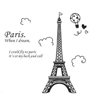 OEM Eiffel Tower Wall Sticker (Black)