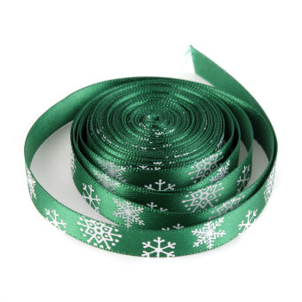 OEM Multi-Pattern 5 Yards 3/8''10mm Merry Christmas Tree Grosgrain Ribbon Gift Decor (Green) - picture 3