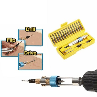 OH Half Time Drill 20bits High Speed Drill Driver Screwdriver Head Tools Yellow - intl - 4