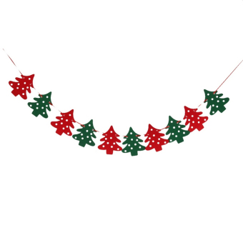 Okdeals Merry Christmas 10 Xmas Tree Banner Garland Hanging Bunting Decorations