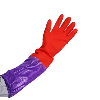 One Pair Of Long Warm Latex Washing Gloves Waterproof For Winter Househeld Kitchen Cleaning Hot - intl - 5