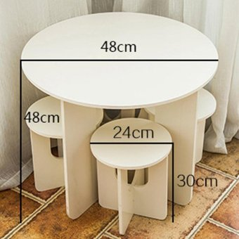 One Piece European Style Mini Creative Home Coffee Table Stool - intl - 4