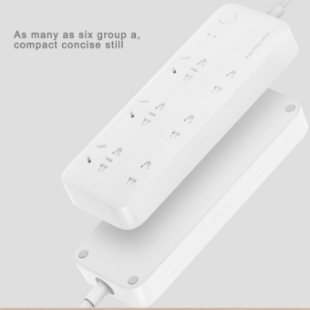Original Xiaomi Mi Smart Power Strip Patch Board Plug Board withRemote Control Time Switch Function & 6 Sockets, Cable Length:1.8M, Chinese Standard Plug(White) - intl - 3
