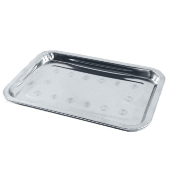 Outdoor Barbecue Tool Thicken Stainless Steel BBQ Grill Tray DripPan - Intl - 2