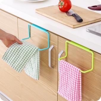 Over Door Tea Towel Rack Rail Kitchen Cabinet Bar Hanging Cupboard Hanger Shelf(Color:Green) - intl - 3