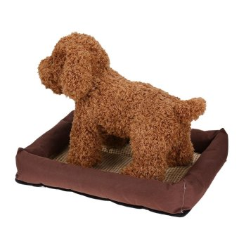 Oxford Cloth Pet Bed Cushion Dog Summer Cooling Pad Mat(Brown S) -intl - 5