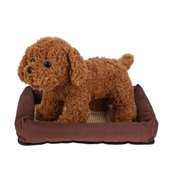 Oxford Cloth Pet Bed Cushion Dog Summer Cooling Pad Mat(Brown S) -intl - 4