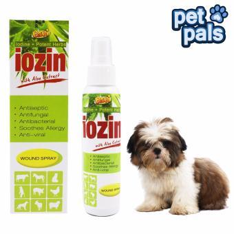 Papi Iodine Potent Herbs Iozin with Aloe Extract Wound Pet Spray 120mL - 2