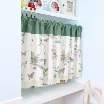 Pastoral fabric bathroom bedroom half-curtain door curtain