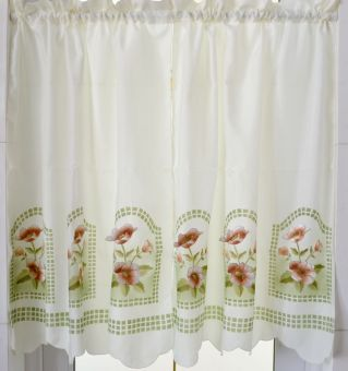 Pastoral fabric European patch embroidered kitchen curtain PARK'S curtain