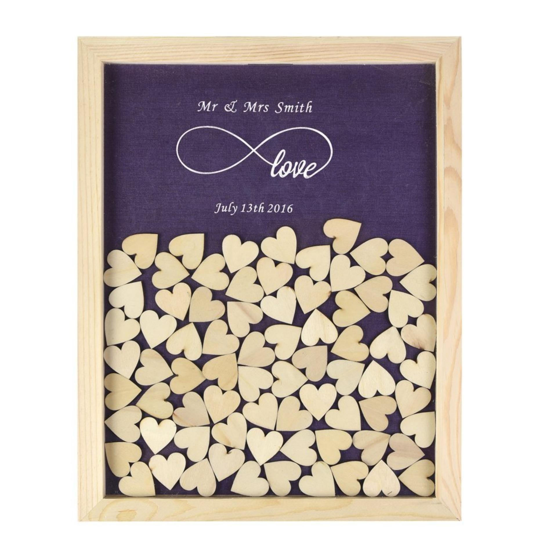 philippines personalized wooden frame wedding guest book