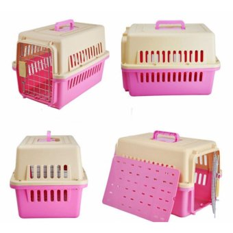 Pet Carrier 1001 Color Pink (48.5cm x 30cm x 31cm) Airline StandardPet Height Up To 30cm For Small Dog and Cat - 2