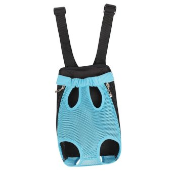 Pet Dog Doggy Sling Legs Out Design Outdoor Travel Durable Nylon Portable Mesh Front Chest Pack Carrier Backpack Shoulder Bag For Dogs Cats Puppy Carriers Pet Tote Bag - Blue,L - intl