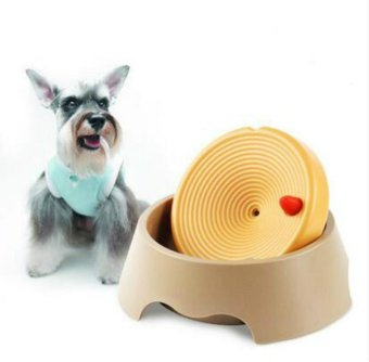 Pet Dog Drinking Water Bowl Not Wet Mouth Puppy Tray Dual-UseDrinking Fountain Cats Dogs Food Dish - intl