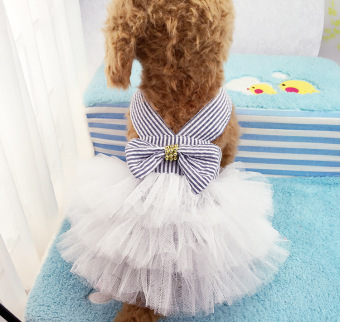 Pet Dogs Bubble Skirt with Bowknot Princess Dress pink - intl - 5