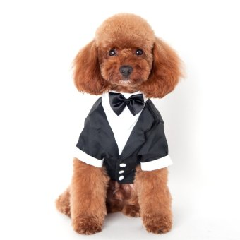 Pet Party Formal Suit Costume Dog Clothing Coat Apparel S