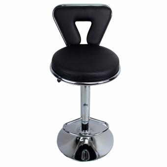 Phoenixhub Adjustable height HIGH Quality and Very Durable BarStool High chair BLACK - 2