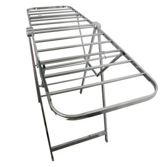 PhoenixHub High Quality 163cm Foldable Stainless Steel Clothes Drying Rack (Silver) - 3