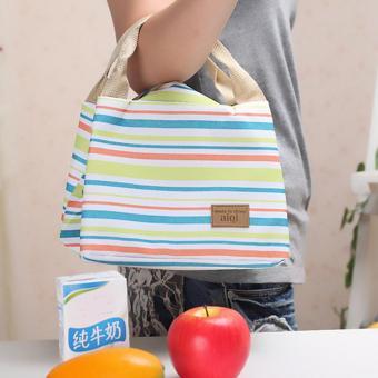 Picnic Lunch Box Bag Dining Travel Purse Zipper Handbag Women Kids Green