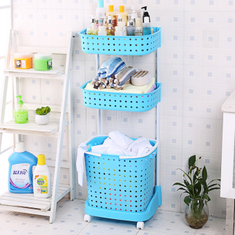 Plastic Floor toilet bathroom shelf