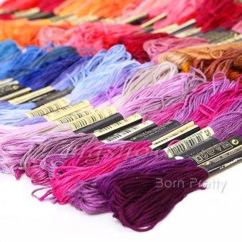 PLATIM 50 Threads/Set Dmc Floss Skein Cross Stitch Threads Embroiderysewing (Random Color ) - 4