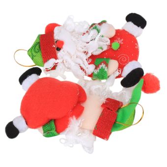 Plush Christmas Santa Claus Pendant Set of 3