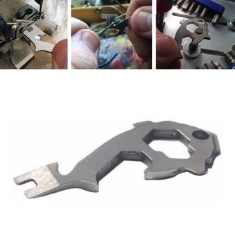 Pocket Key Multi Tool Kit Multipurose Multifunction EDC GearScrewdriver Wrench Opener Outdoor Belt Survive Wire Stripper - intl - 3