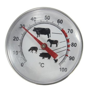 Pocket Probe Thermometer Gauge For BBQ Meat Food (Stainless Steel) - 5