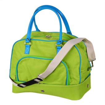 Pockets Weekender Overnight Bag (Lime and Aqua) - picture 2