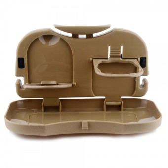 Portable Car Travel Dining Tray (Brown) - picture 2