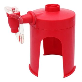Portable Desktop Fizz Saver Soda Beverage Dispenser (Red)