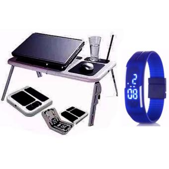 Portable Foldable Laptop E-Table With Cooling Fan with FashionCandy Led Watch Color May Vary Price Philippines