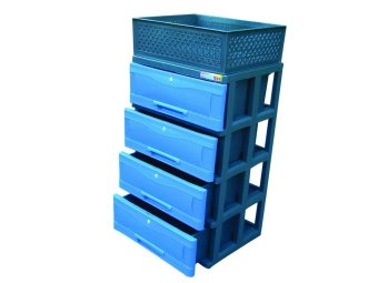 Power Box Chest Drawer D.288-4L(Blue) - 3